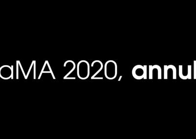 MaMA 2020, annulé.